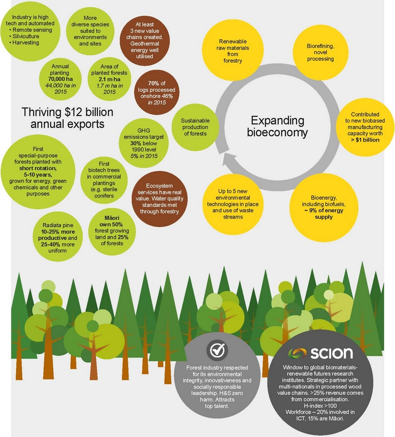 Forest industry vision and Scion 2025